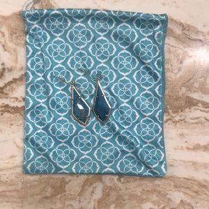 Kendra Scott turquoise teardrop pendant earrings